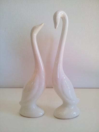 Art Deco Swans