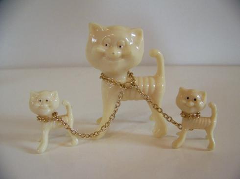 Lucite Cat trio