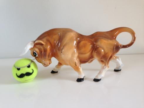 Vintage Brown Bull