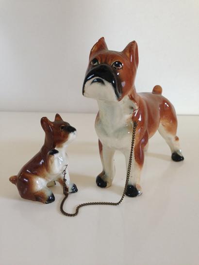 Vintage Boxer Mum & Pup