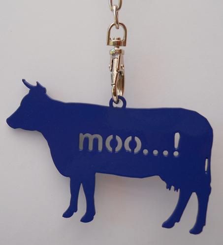 Moo Keyring