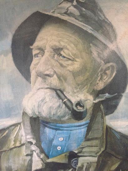 Harry Haerendel Old Seaman Print Sold