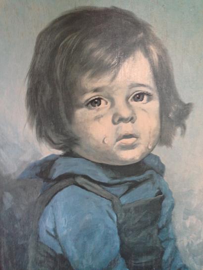 Giovanni Bragolin 'crying girl' Print – SOLD