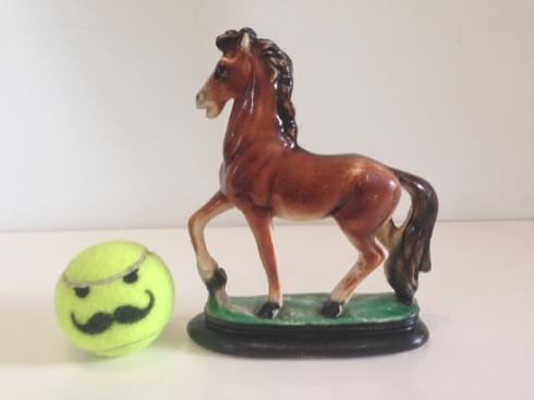 Chalware Horse Figurine