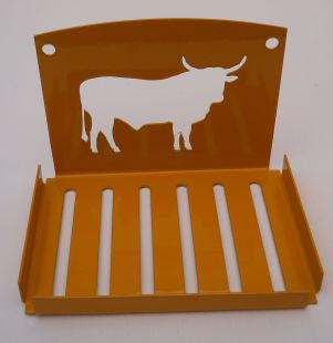 Soap Dish Holder - Nguni - Yellow (small)
