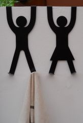 His & Hers Door Hooks - Black with cloth (small res)