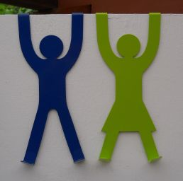 His & Hers Door Hooks - Blue & Lime (small res)