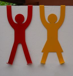 His & Hers Door Hooks - Red & Yellow (small res)