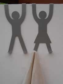 His & Hers Door Hooks - Silver with cloth (small res)jpg