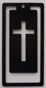 Bookmark - Cross Black