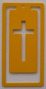 Bookmark - Cross Yellow