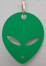 Keyring - Alien - Green