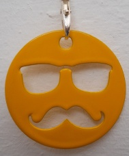 Keyring - Hipster - Yellow
